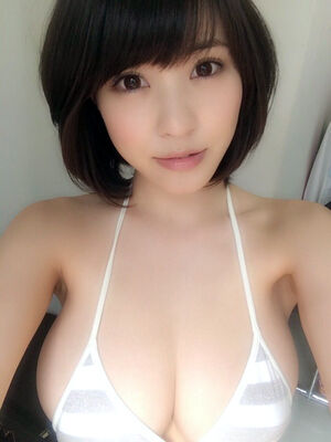 Sexy chinese girl in glasses and with pair of real big natural tits